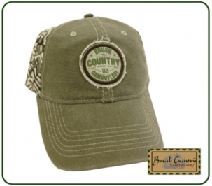BCC1201 Brush Country Green with Camo Back